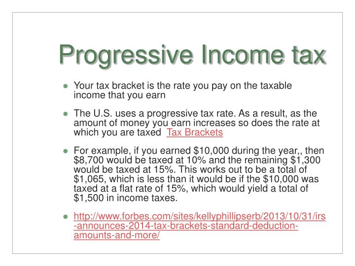 Progressive Income tax