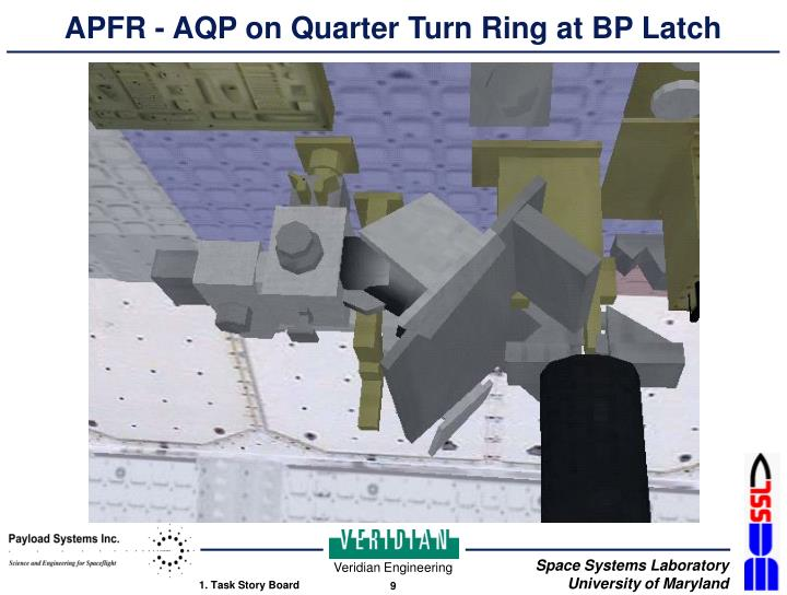 APFR - AQP on Quarter Turn Ring at BP Latch