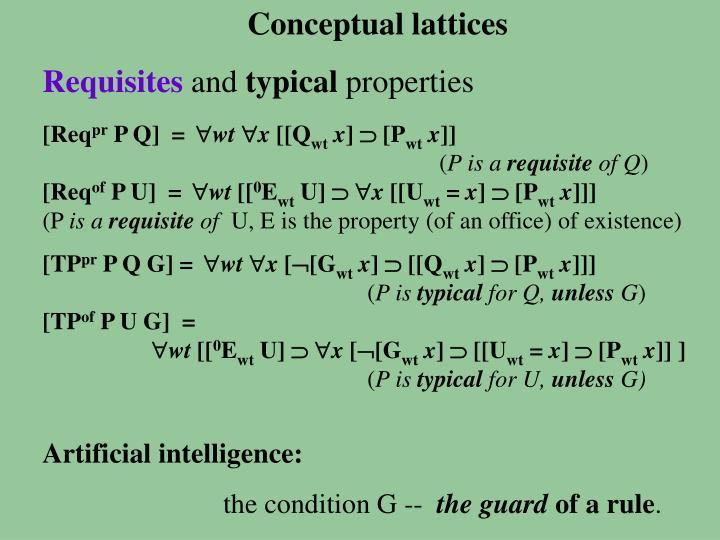 Conceptual lattices