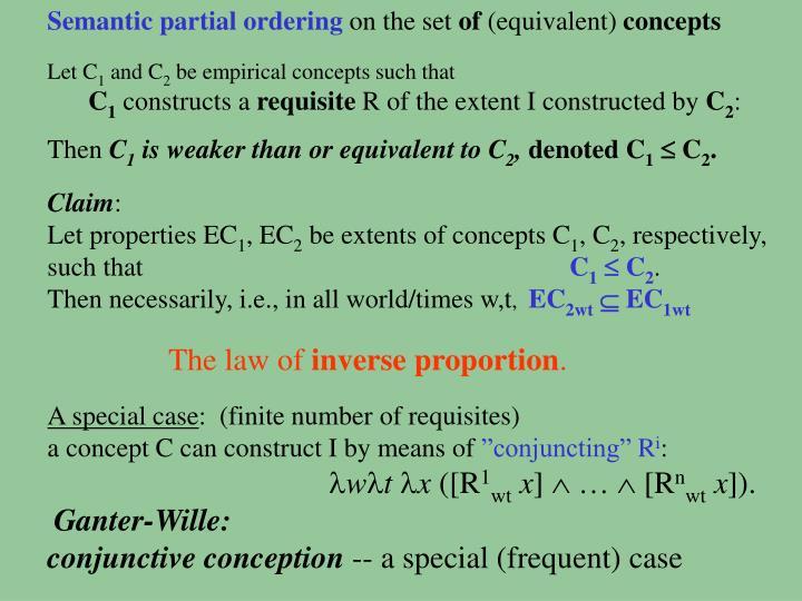 Semantic partial ordering