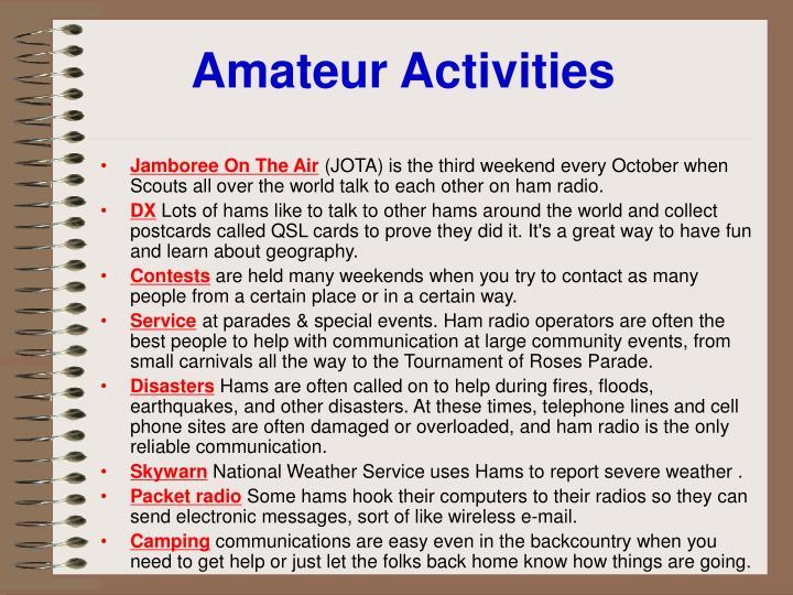 Amateur Activities