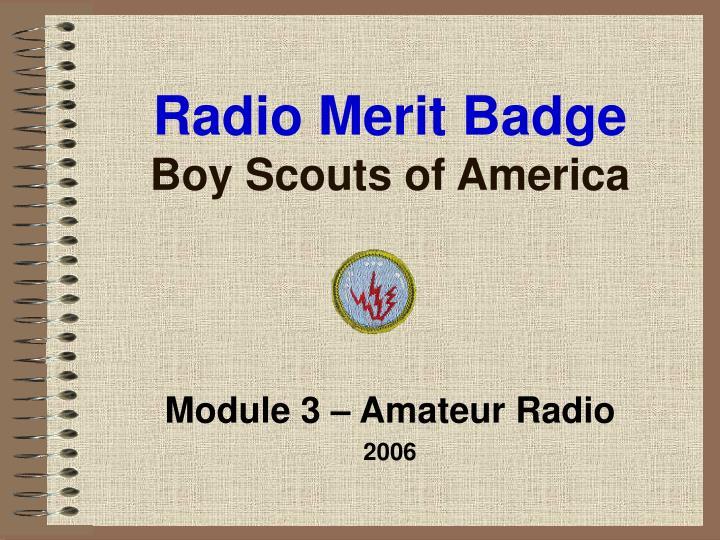 Radio Merit Badge