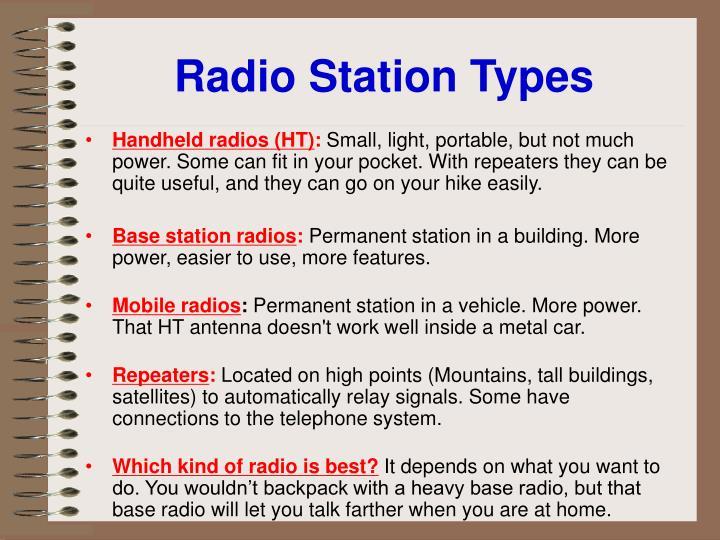 Radio Station Types