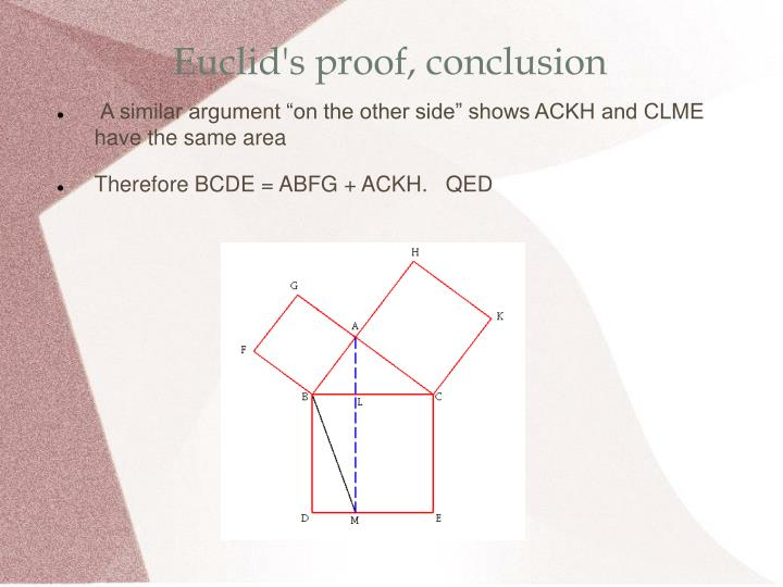 Euclid's proof, conclusion