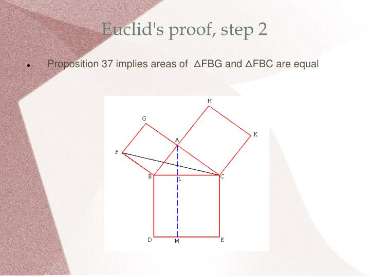 Euclid's proof, step 2