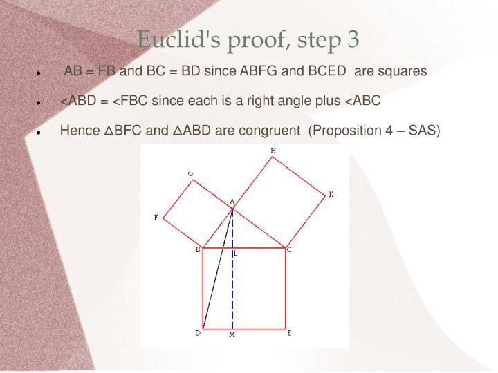 Euclid's proof, step 3