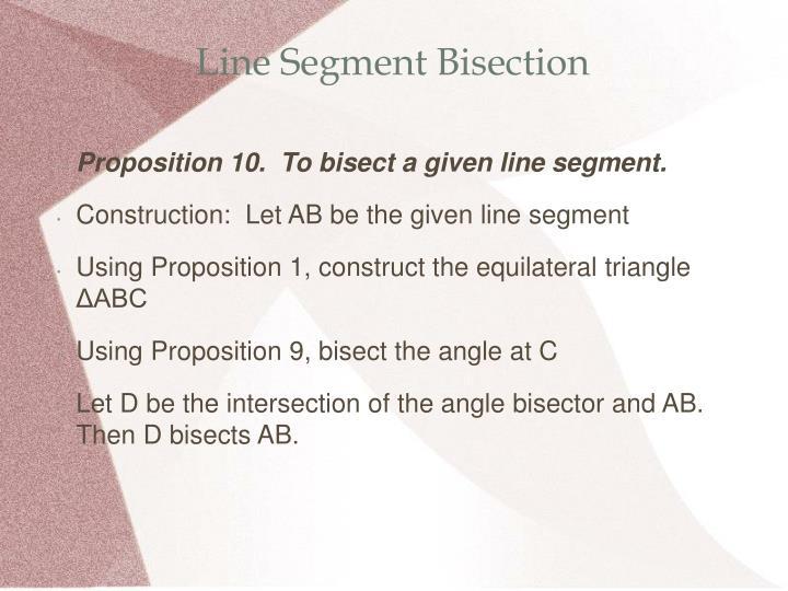 Line Segment Bisection