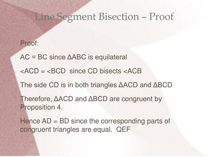 Line Segment Bisection – Proof
