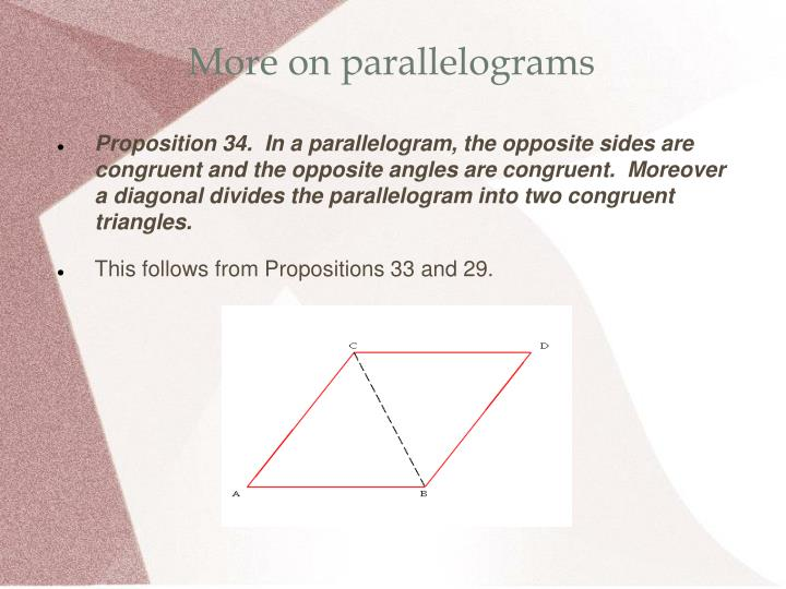 More on parallelograms