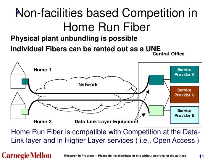 Non-facilities based Competition in Home Run Fiber