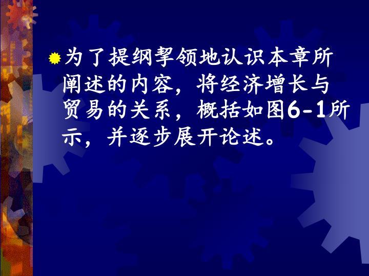 为了提纲挈领地认识本章所阐述的内容,将经济增长与贸易的关系,概括如图