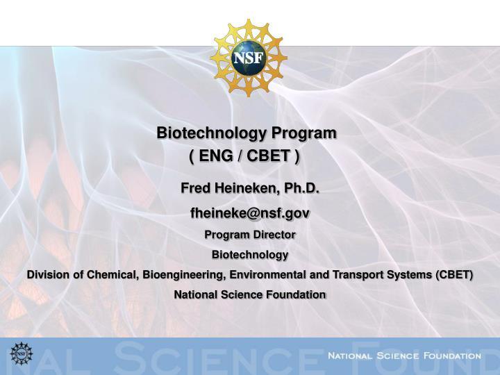 Biotechnology Program