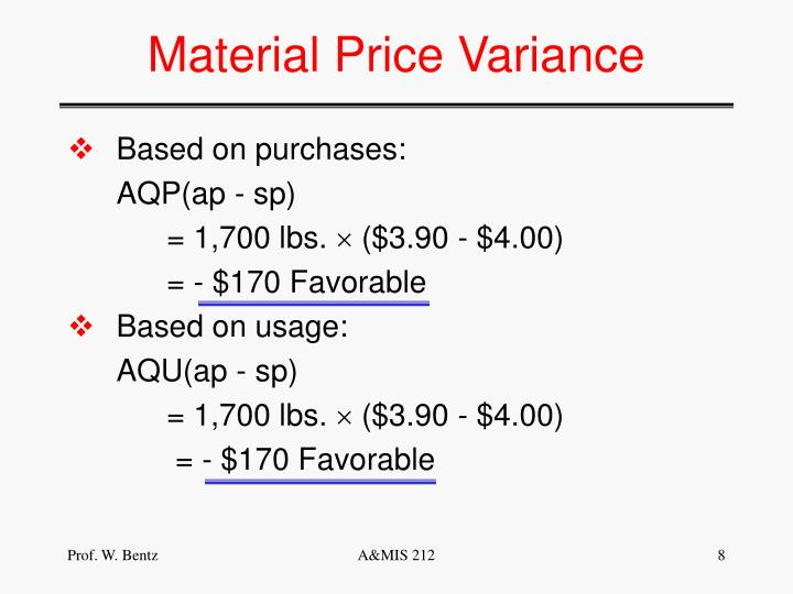 Material Price Variance