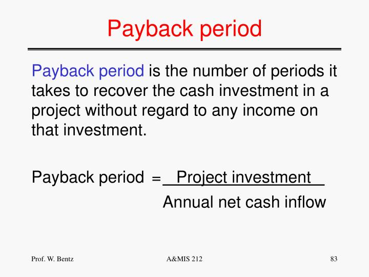 Payback period