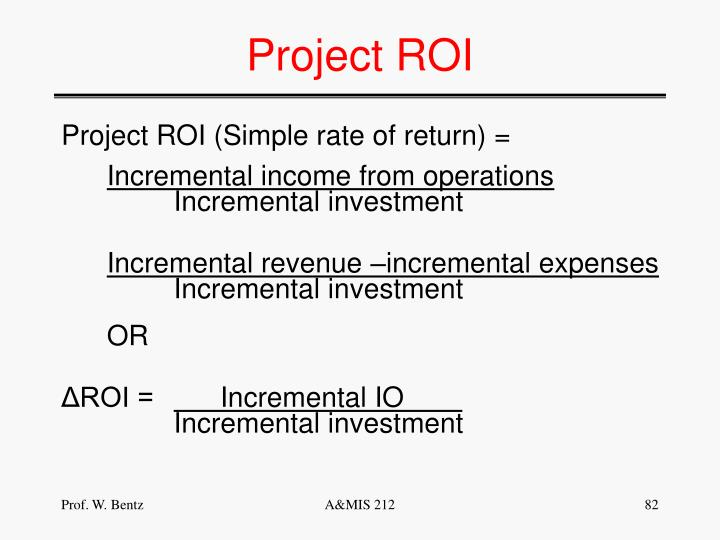Project ROI