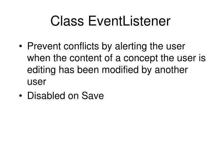 Class EventListener