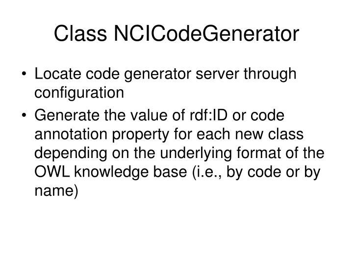Class NCICodeGenerator