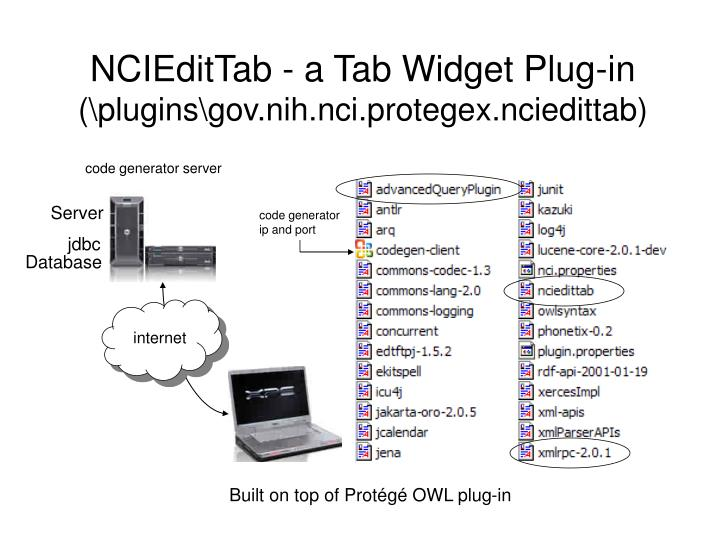 NCIEditTab - a Tab Widget Plug-in