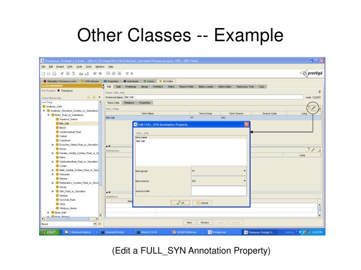 Other Classes -- Example