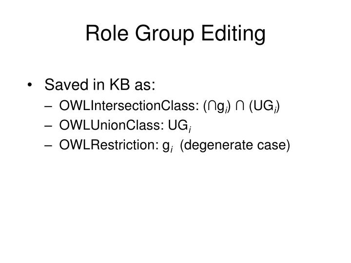 Role Group Editing