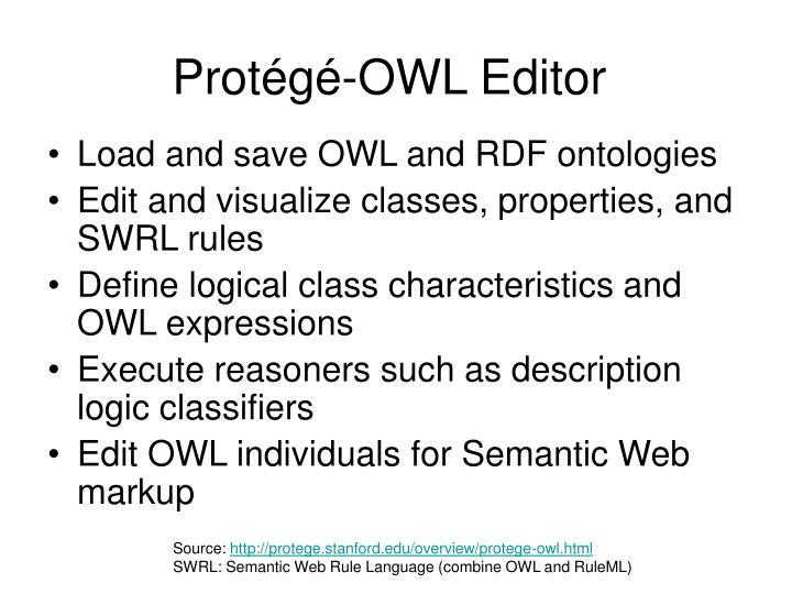 Protégé-OWL Editor