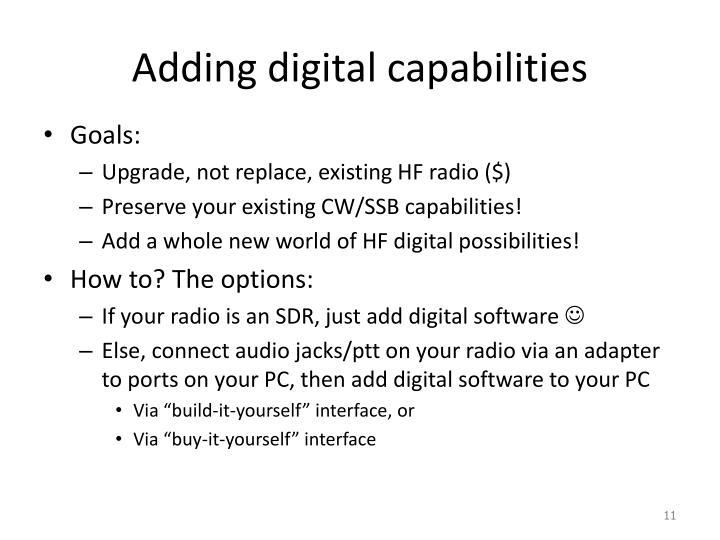Adding digital capabilities