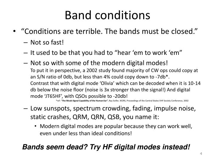 Band conditions
