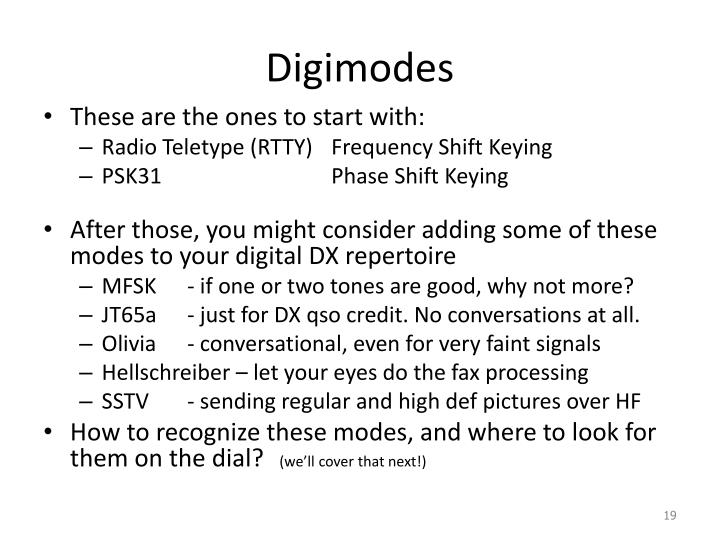 Digimodes
