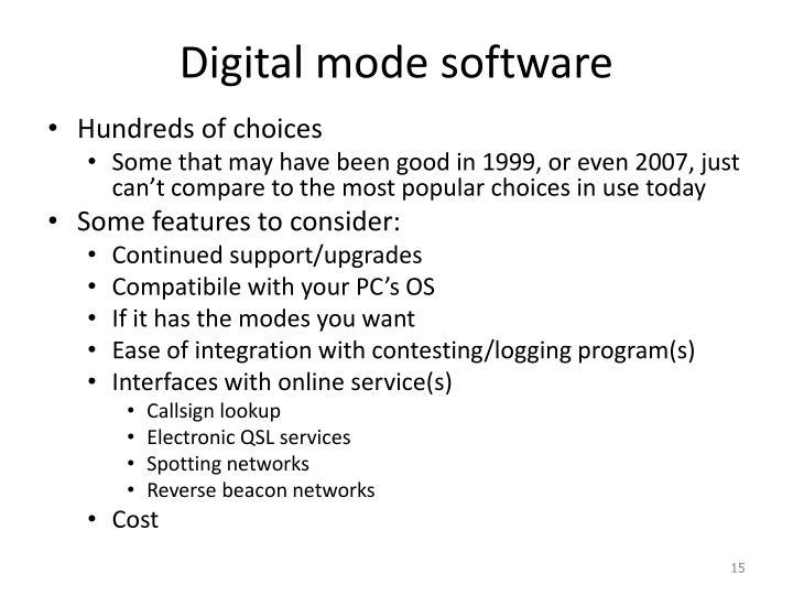 Digital mode software