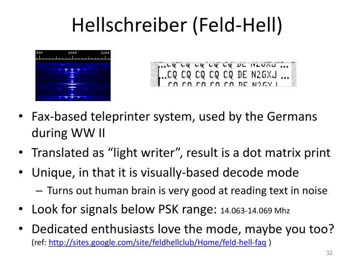 Hellschreiber (Feld-Hell)