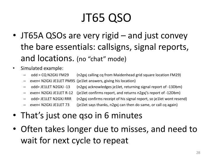 JT65 QSO