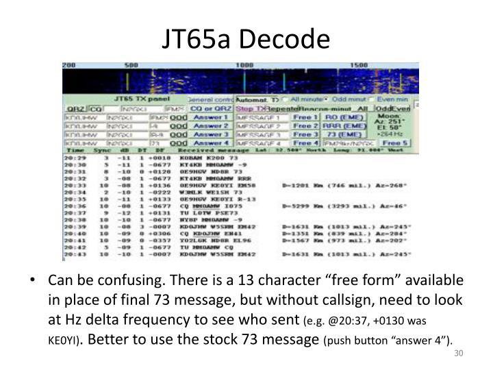 JT65a Decode