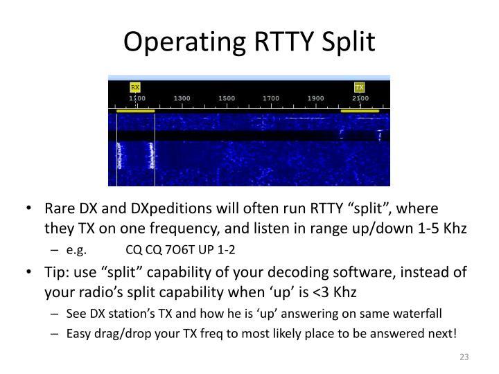 Operating RTTY Split