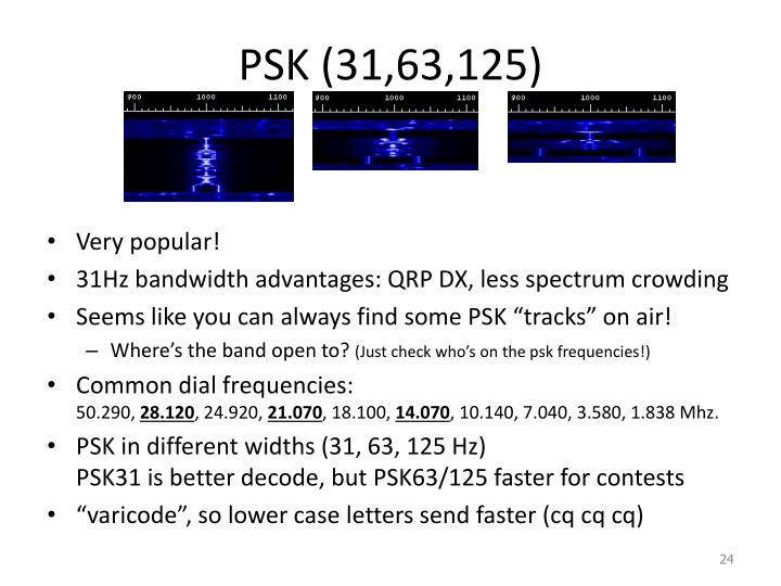 PSK (31,63,125)
