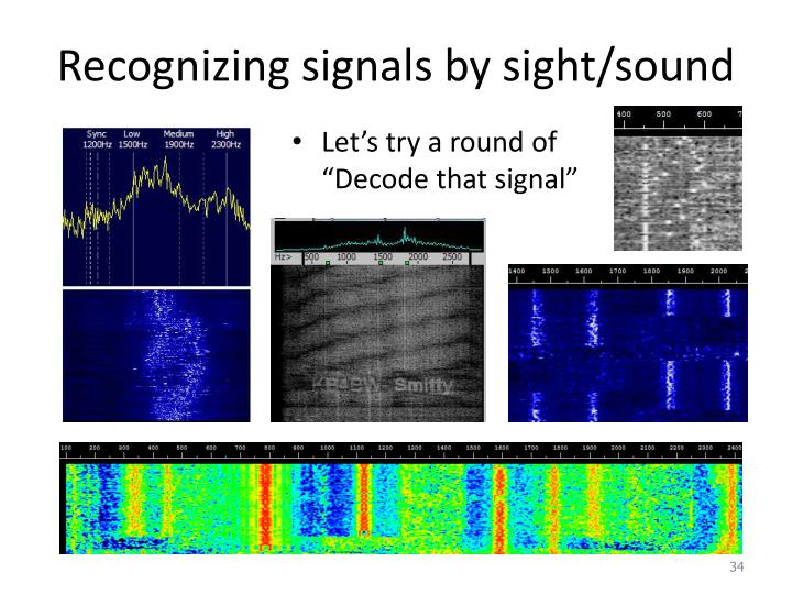 Recognizing signals by sight/sound