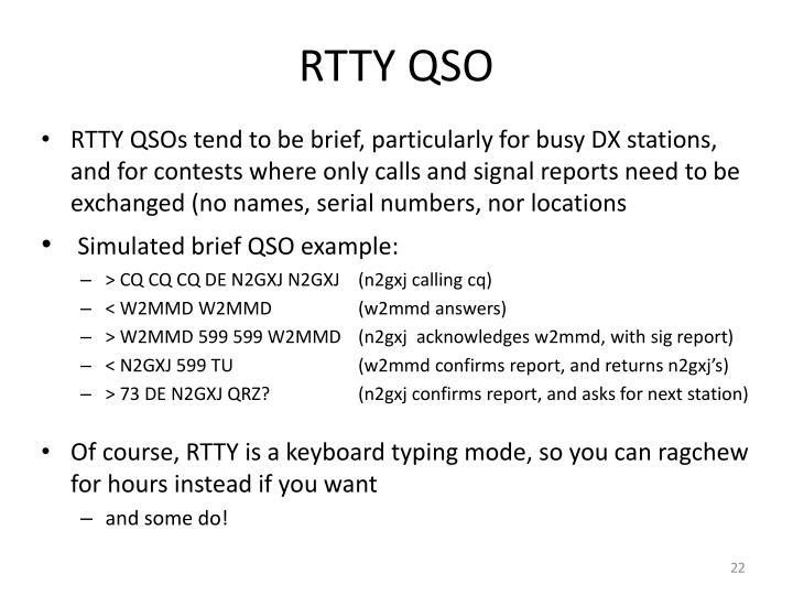 RTTY QSO