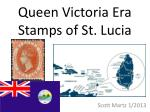 queen victoria era stamps of st lucia