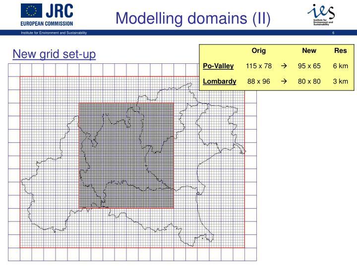 Modelling domains (II)