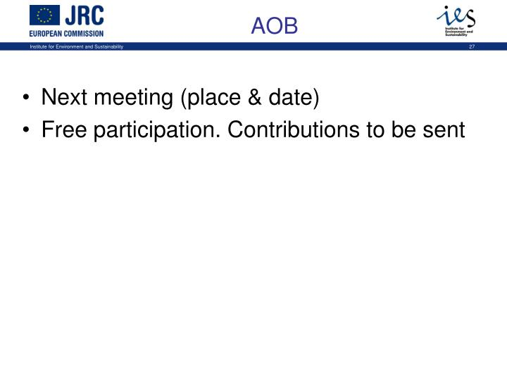 Next meeting (place & date)