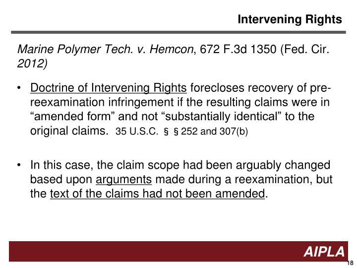 Intervening Rights