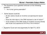 myriad patentable subject matter3