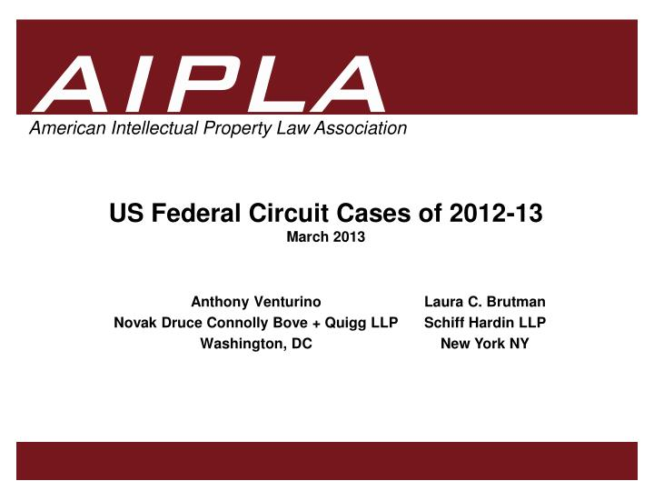 us federal circuit cases of 2012 13 march 2013