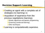 decision support learning