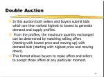 double auction