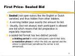 first price sealed bid