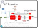 olt transmitter