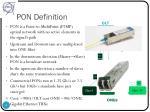 pon definition