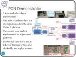 pon demonstrator