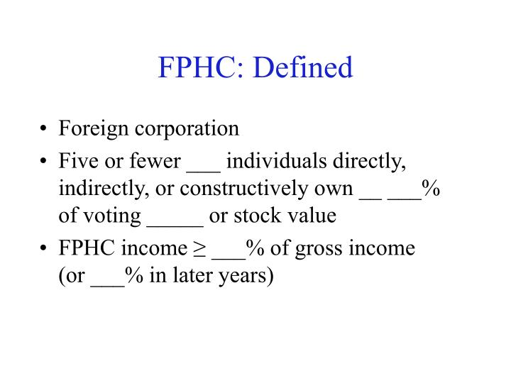 FPHC: Defined