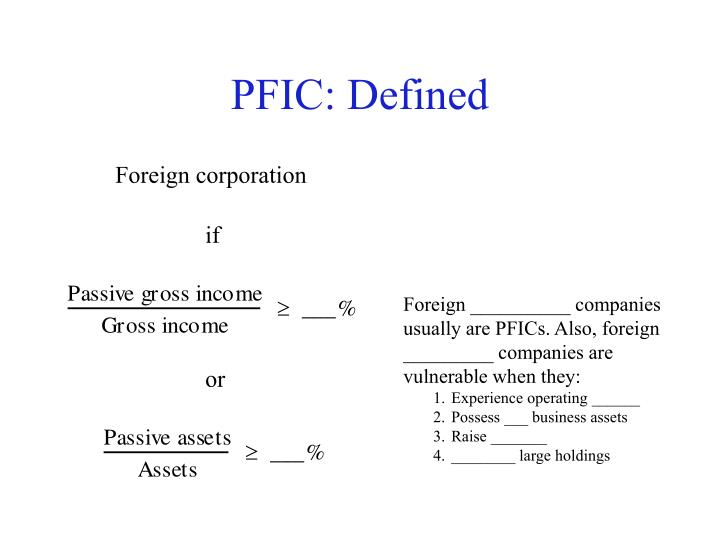 PFIC: Defined
